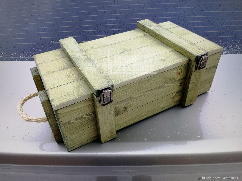 Деревянный ящик военный сувенирный, Подарочные боксы, Клин,  Фото №1