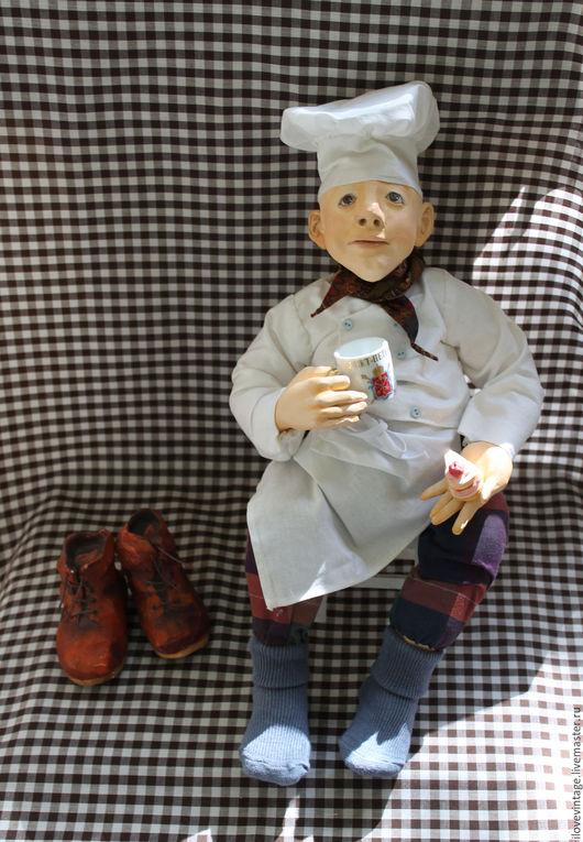 """Коллекционные куклы ручной работы. Ярмарка Мастеров - ручная работа. Купить Коллекционная кукла """"Повар"""". Handmade. Комбинированный, кукла повар"""