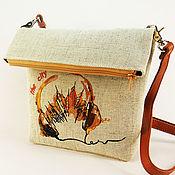 Сумки и аксессуары handmade. Livemaster - original item Canvas bag with embroidery Crossbody fabric over the shoulder eco Bag. Handmade.