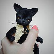 Куклы и игрушки ручной работы. Ярмарка Мастеров - ручная работа Чёрный котёнок. Handmade.