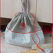 Для дома и интерьера ручной работы. Ярмарка Мастеров - ручная работа Мешок для хлеба. Handmade.