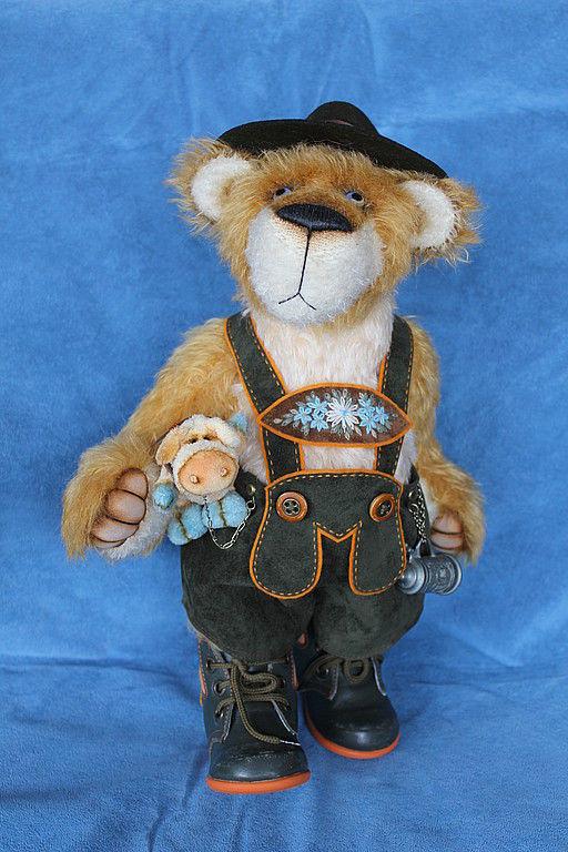Мишки Тедди ручной работы. Ярмарка Мастеров - ручная работа. Купить Отто - баварский мишка. Handmade. Мишки тедди, фетр