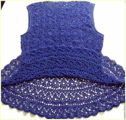 Топ ажурный вязаный топ нарядный ажурный топ фиолетовый вязаный