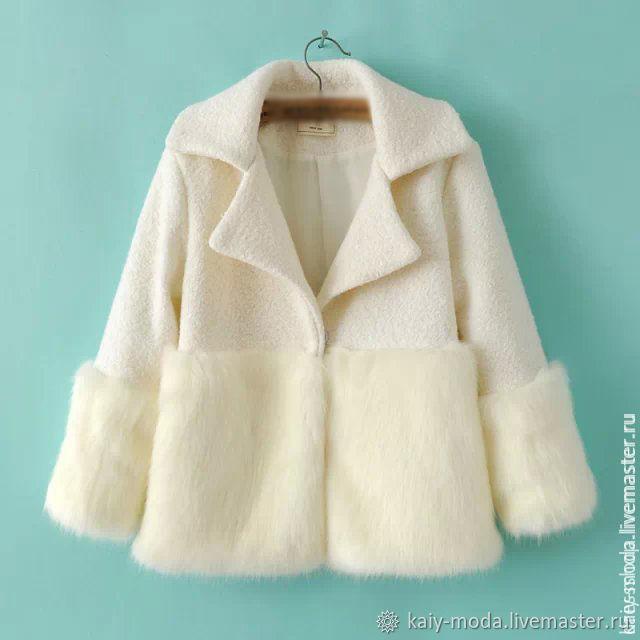 White coat ' White rabbit', Coats, Moscow,  Фото №1