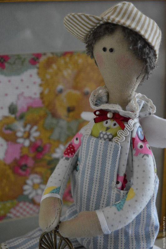 """Куклы Тильды ручной работы. Ярмарка Мастеров - ручная работа. Купить Ангел для мальчика """"Ты, да, я"""". Handmade. Комбинированный"""