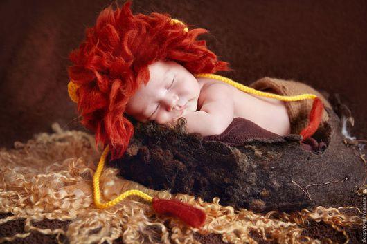Для новорожденных, ручной работы. Ярмарка Мастеров - ручная работа. Купить Костюм Львенка для фотосессии новорожденного. Handmade. Рыжий