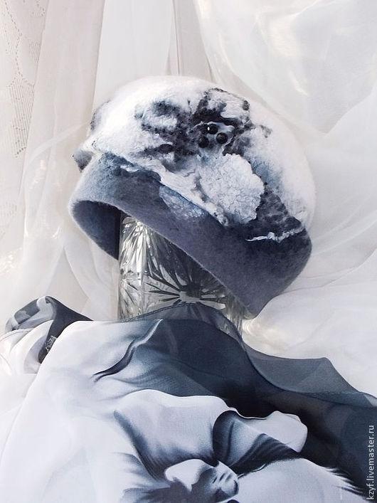 """Береты ручной работы. Ярмарка Мастеров - ручная работа. Купить Берет. Берет валяный ручной работы """"Зимние цветы"""". Handmade."""