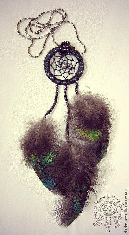 """Комплекты украшений ручной работы. Ярмарка Мастеров - ручная работа. Купить Комплект """"Peacock"""" (кулон и серьги). Handmade. Dreamcatcher"""