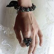 Украшения ручной работы. Ярмарка Мастеров - ручная работа Милый комплект браслет + кольцо Miss Peregrine. Handmade.