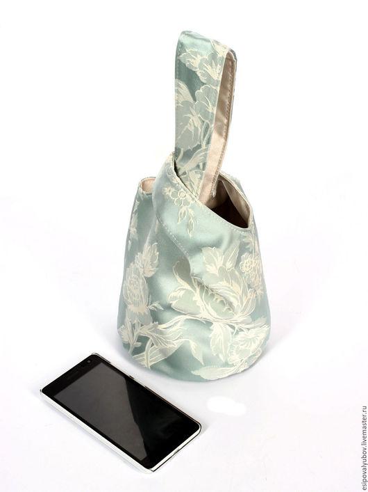"""Женские сумки ручной работы. Ярмарка Мастеров - ручная работа. Купить Сумка-мешок """" Невеста"""". Handmade. Голубой цвет"""