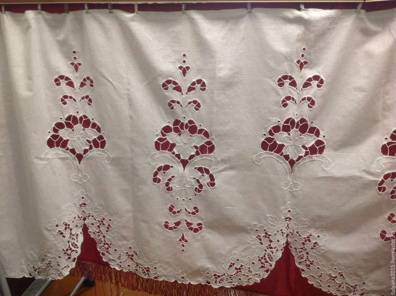 Kitchen handmade. Livemaster - handmade. Buy The curtain on the window (top shade).Handmade, white, kitchen, richelieu