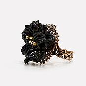 Украшения ручной работы. Ярмарка Мастеров - ручная работа Черный бархат, кольцо лэмпворк. Handmade.