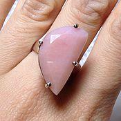 Кольца ручной работы. Ярмарка Мастеров - ручная работа Кольцо с розовым опалом. Handmade.