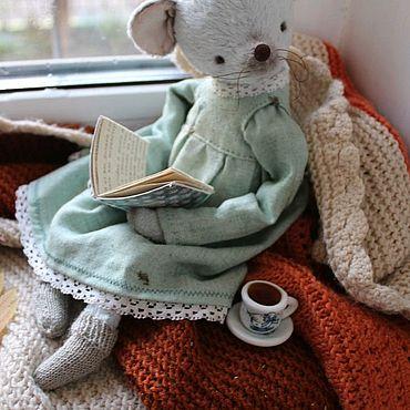 Куклы и игрушки ручной работы. Ярмарка Мастеров - ручная работа Мышка Тедди.Осенняя грусть.. Handmade.