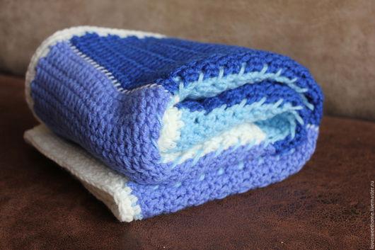 """Текстиль, ковры ручной работы. Ярмарка Мастеров - ручная работа. Купить Плед """"В морском стиле"""". Handmade. Комбинированный"""
