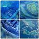 Шали, палантины ручной работы. Тайны мирового океана. Лара Брик. Ярмарка Мастеров. Палантин, шёлковые волокна