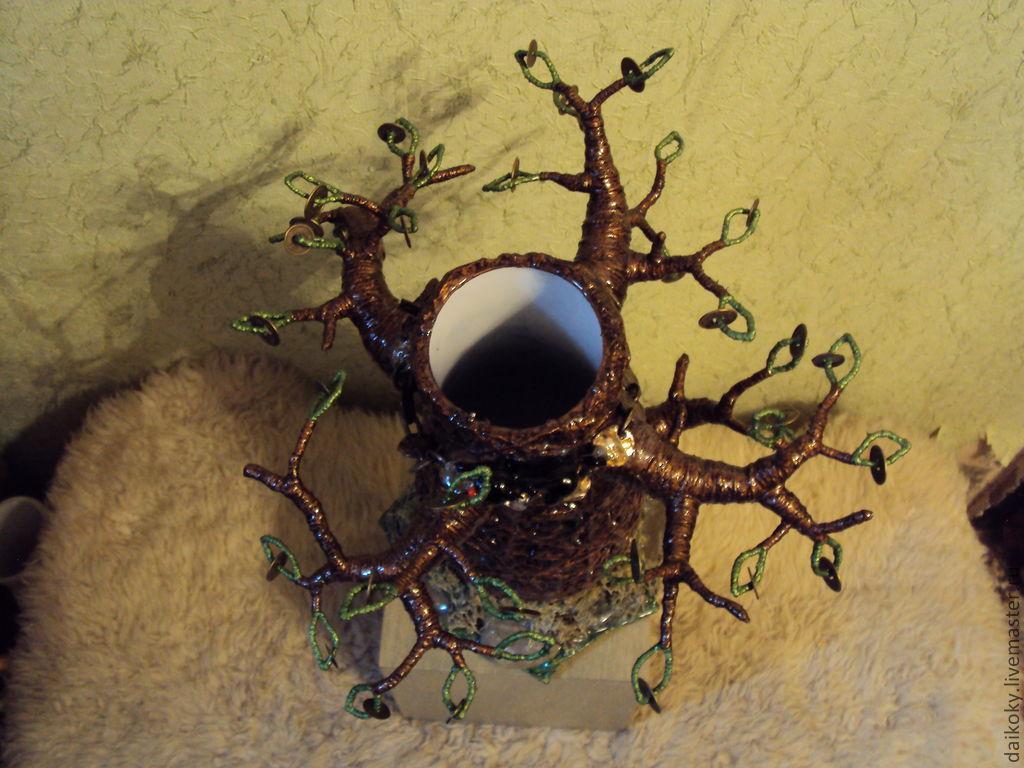 """Ваза """"Денежное дерево с котом ученым..."""""""
