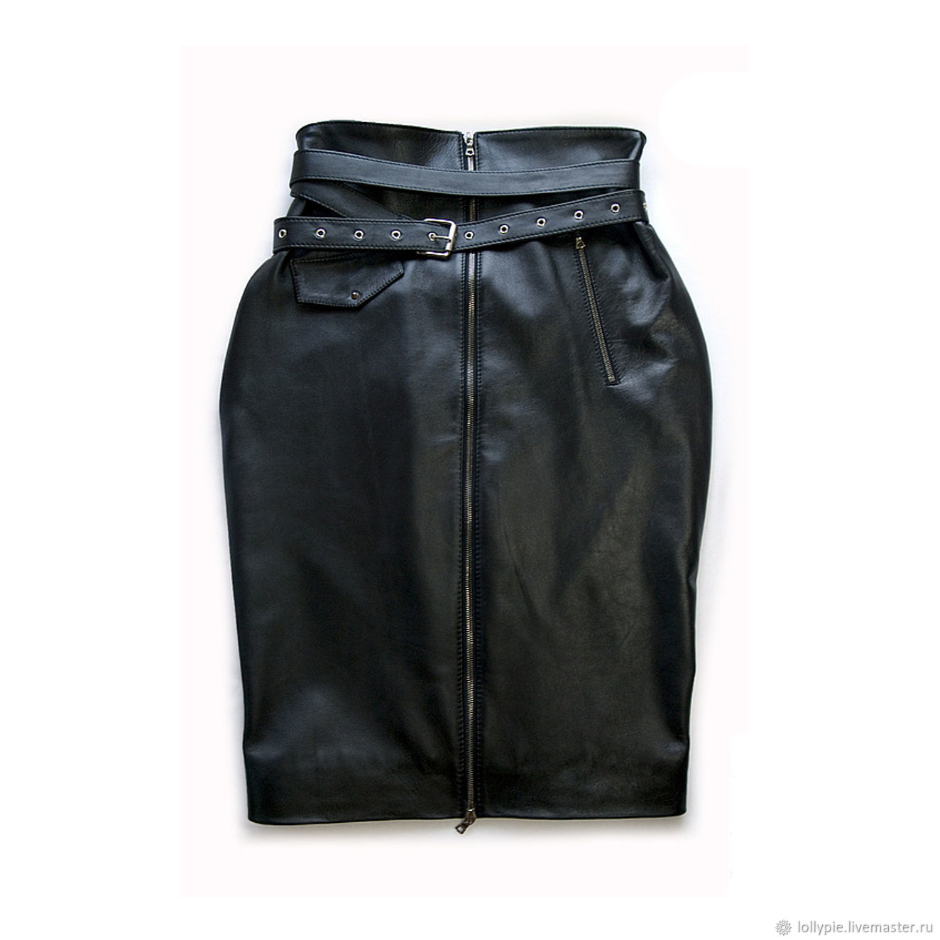 High-waisted leather pencil skirt, Skirts, Moscow,  Фото №1