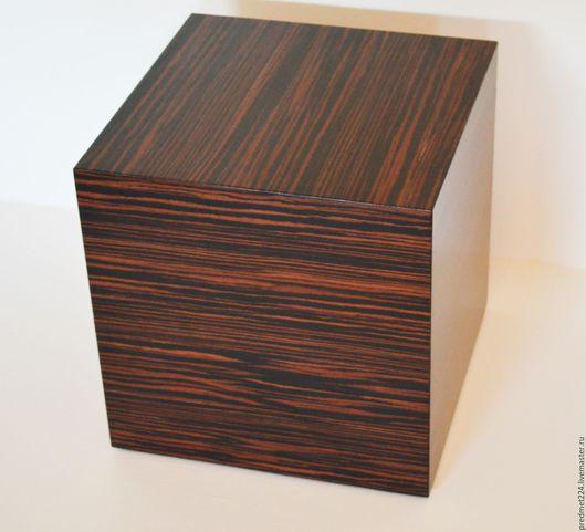 Мебель ручной работы. Ярмарка Мастеров - ручная работа. Купить Столик - подиум. Handmade. Черный, мдф