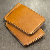 Сумки и аксессуары handmade. Livemaster - original item Wallet with money clip made of leather.. Handmade.