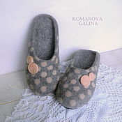 Обувь ручной работы handmade. Livemaster - original item women`s felted Slippers