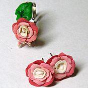 Украшения ручной работы. Ярмарка Мастеров - ручная работа Розовые розы. Handmade.