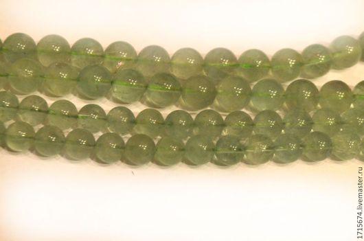 Для украшений ручной работы. Ярмарка Мастеров - ручная работа. Купить Флюорит зеленый 10,12 мм. Handmade. Салатовый