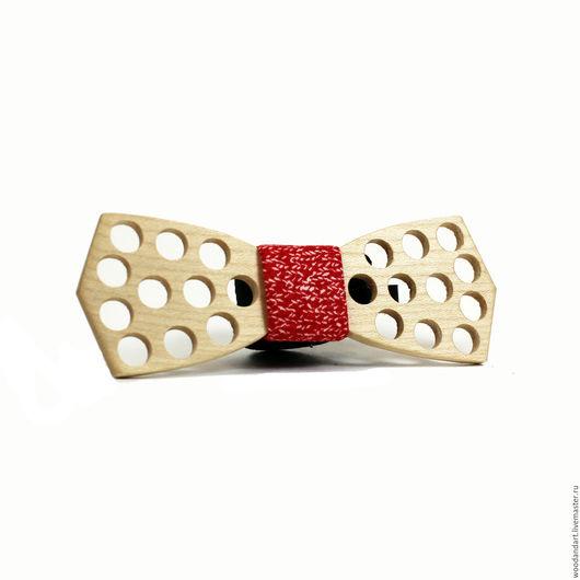 Галстуки, бабочки ручной работы. Ярмарка Мастеров - ручная работа. Купить Деревянная галстук- бабочка Light. Handmade. Ярко-красный