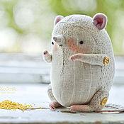 Куклы и игрушки ручной работы. Ярмарка Мастеров - ручная работа Мышь Крупяная льняная. Handmade.