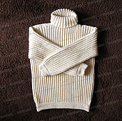 Одежда handmade. Livemaster - original item Sweater fleece with a collar, light (No. №1). Handmade.
