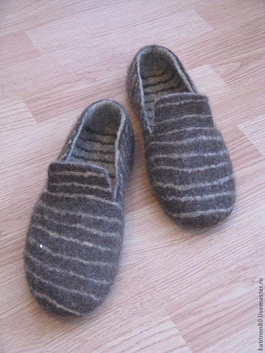"""Обувь ручной работы. Ярмарка Мастеров - ручная работа. Купить Тапочки """"Мужские"""". Handmade. Коричневый, Тапочки ручной работы"""
