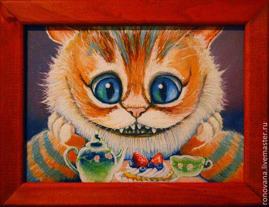 Животные ручной работы. Ярмарка Мастеров - ручная работа. Купить Чеширский кот. Handmade. Чеширский кот, рыжий кот, пирожное