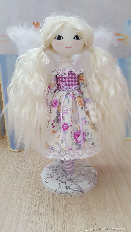 Текстильная интерьерная кукла Ангелочек, Тыквоголовка, Екатеринбург,  Фото №1
