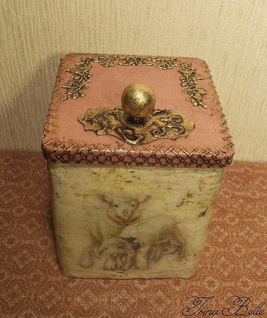 """Кухня ручной работы. Ярмарка Мастеров - ручная работа. Купить Баночка для хранения """"Деревенская фауна"""". Handmade. Баночка для чая, поталь"""