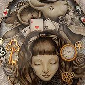 """Для дома и интерьера ручной работы. Ярмарка Мастеров - ручная работа зеркало """"Алиса в стране чудес"""" (2).. Handmade."""