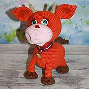 Куклы и игрушки handmade. Livemaster - original item Soft toys: Bull Three. Bull knitted. Symbol 2021. Handmade.