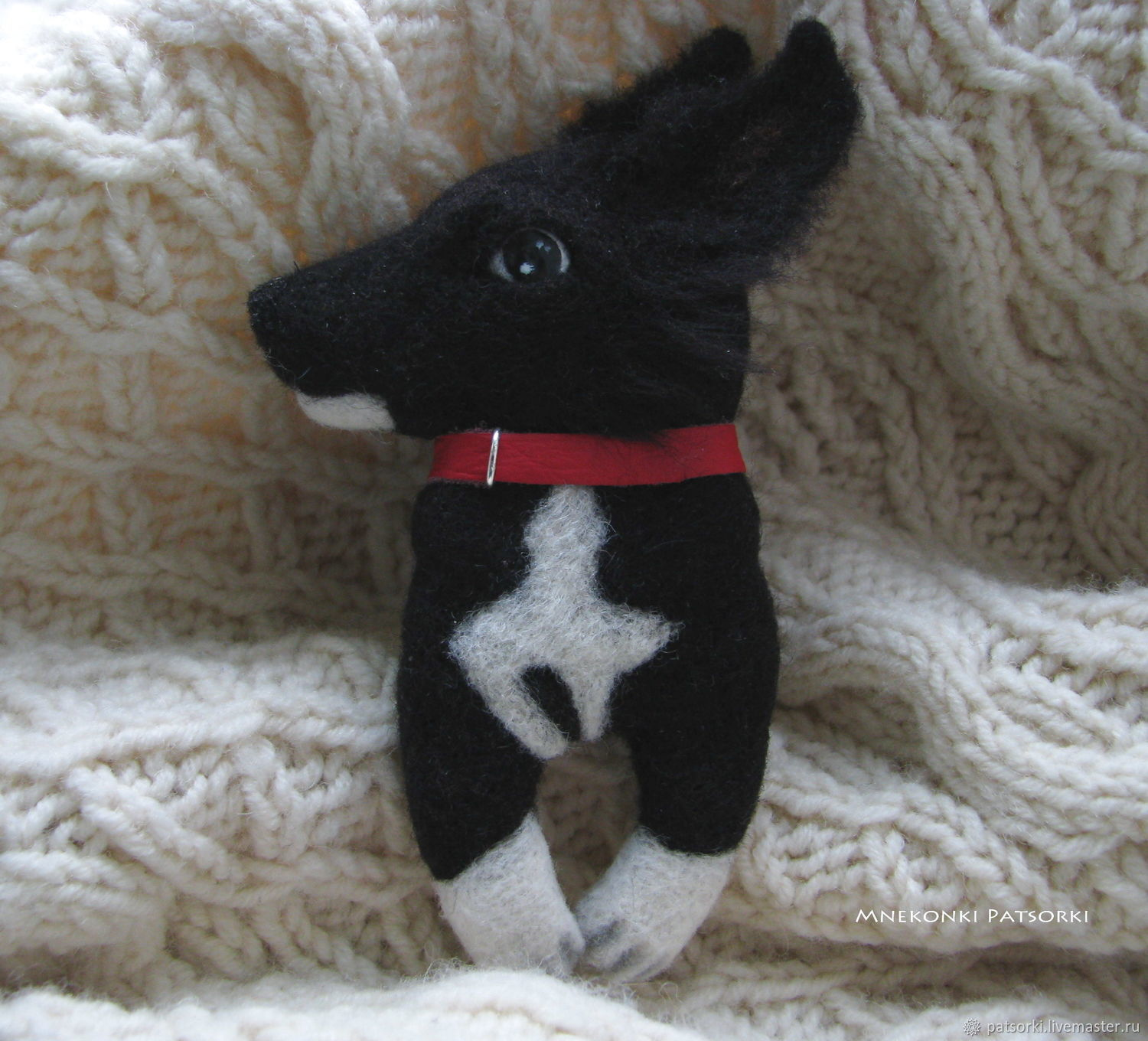 Portrait Felted brooch Doggy, Brooches, Ivano-Frankivsk,  Фото №1