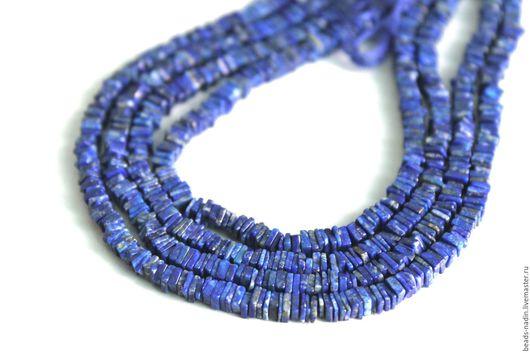 Для украшений ручной работы. Ярмарка Мастеров - ручная работа. Купить Ляпис-лазурит, нить 41см. Handmade. Синий