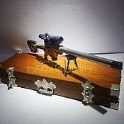Сувениры и подарки ручной работы. Ярмарка Мастеров - ручная работа Миниатюрная модель тактической винтовки DVL-10. Handmade.