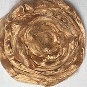 Ткани ручной работы. Ярмарка Мастеров - ручная работа Вискоза для валяния Бежевая 10 гр. Handmade.