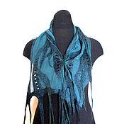 Аксессуары ручной работы. Ярмарка Мастеров - ручная работа Бискайский залив Нуно-войлочный шарфик. Handmade.