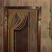 Для дома и интерьера ручной работы. Ярмарка Мастеров - ручная работа Штора. макраме. Handmade.