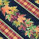 Американский хлопок осень урожай с золотом бордюр для пэчворка Ткани на Цветном