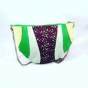 """Сумки и аксессуары ручной работы. Ярмарка Мастеров - ручная работа Кожаная сумка """"Fresh"""",мятная,яркая,зеленая,через плечо,круглая,combo. Handmade."""