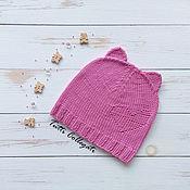 Работы для детей, ручной работы. Ярмарка Мастеров - ручная работа Розовая шапочка с ушками. Handmade.