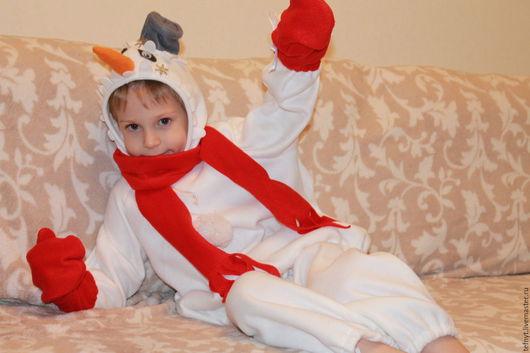 Детские карнавальные костюмы ручной работы. Ярмарка Мастеров - ручная работа. Купить Снеговичок. Handmade. Белый
