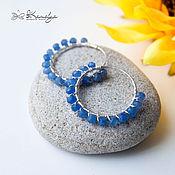 Украшения handmade. Livemaster - original item Silver earrings with sapphire Blue bird 925 silver. Handmade.
