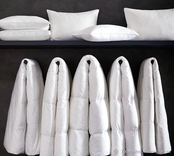 Белое самое пышное одеяло 100% хлопок наполнитель искус лебяжий пух, Одеяла, Москва,  Фото №1