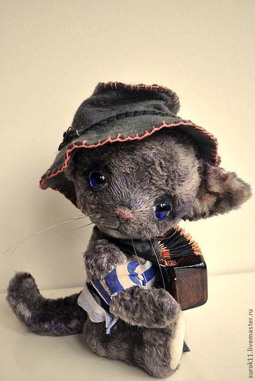 Мишки Тедди ручной работы. Ярмарка Мастеров - ручная работа. Купить Кот Баян. Handmade. Темно-серый, коты