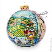 """Подарки к праздникам ручной работы. Ярмарка Мастеров - ручная работа Елочный шар """" Истина в вине"""". Handmade."""